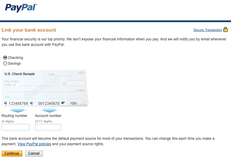 paypal transfer to bank account limit